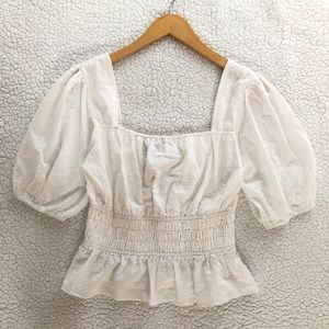 NWT Finders Keepers sheer eyelet Lacy top in white